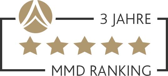MMD Ranking 5 Sterne über 3 Jahre